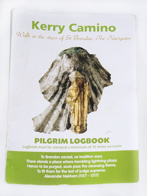 Picture of thekerry Camino Log book from the KErry caminos walker's pack